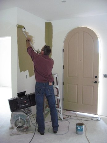 Painting an entryway