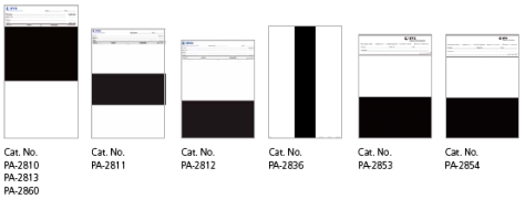 Different types of opacity charts. Photo courtesy of BYK-Gardner.