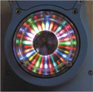 LEDs in the BYK-Gardner spectro-guide. Photo Courtesy of BYK-Gardner.